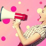 social media metrics engagement not broadcasting woman with megaphone
