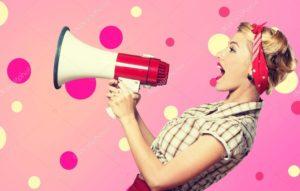 social media metrics engagement not broadcasting woman with megaphone
